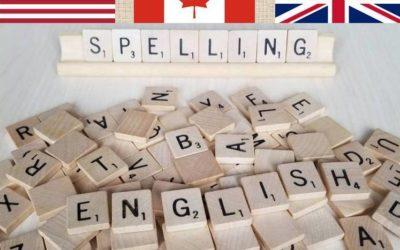 Spelling: American vs British vs Canadian