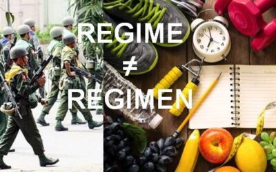My Current Peeve: Regime vs Regimen